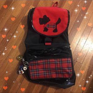Handbags - Patent plaid Scottie dog backpack 90s vintage ❤️